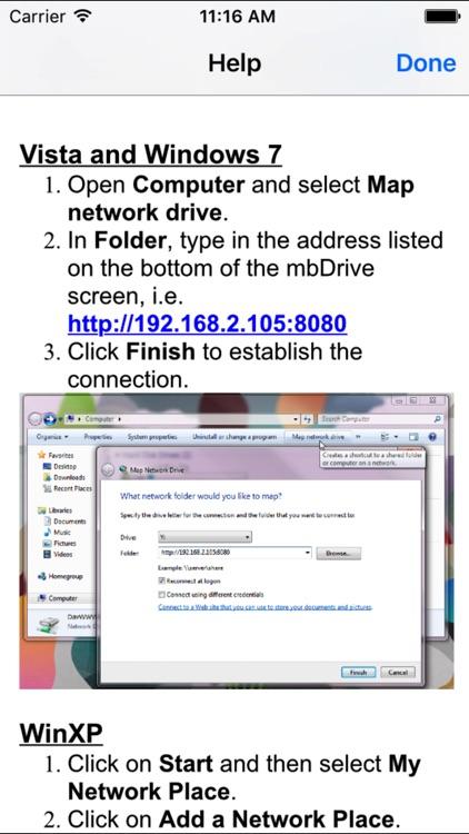 mbDrive - WiFi flash disk