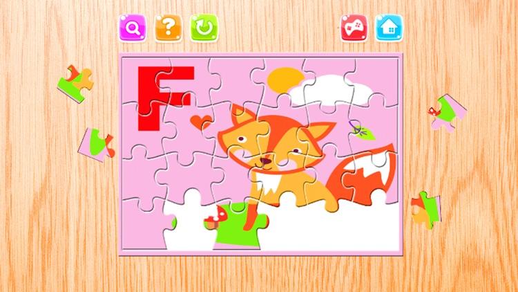 Alphabet  A-Z Animals Jigsaw Puzzles for kids app image