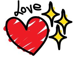 Love Stickers - Hand Drawn Sticker Pack