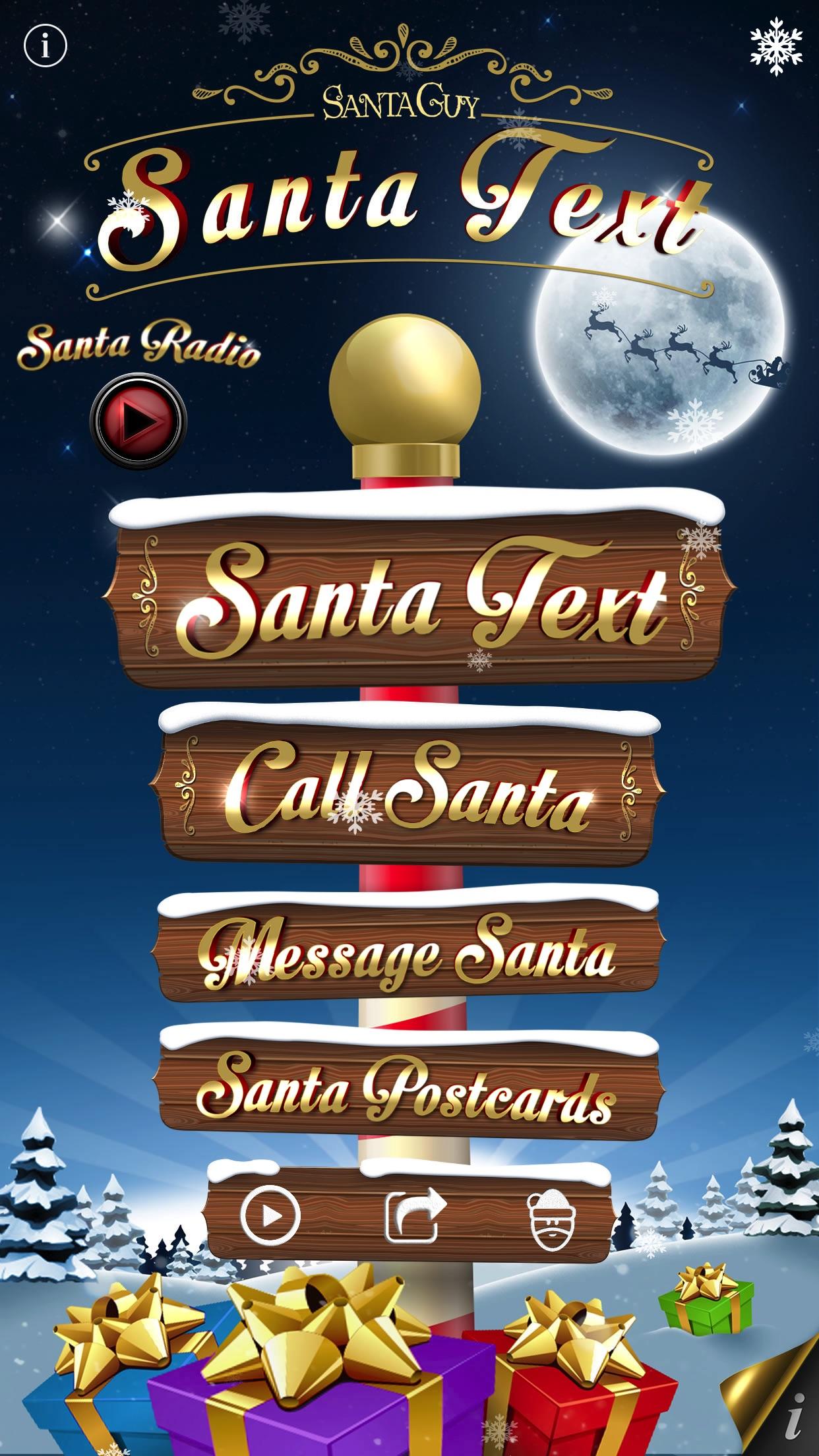 Santa Text Screenshot