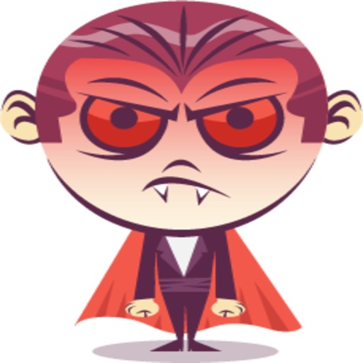 Funny Dracula stickers by KORCHO