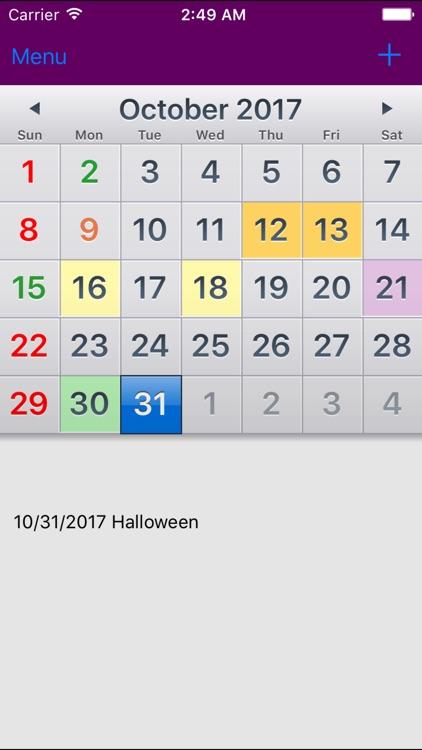 US Holiday Calendar NoAds