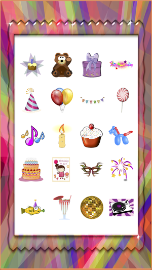 Happy Birthday Party Cake Gifts Stickers 4