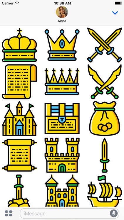 The Medieval: Golden Era Emoji Stickers Limited
