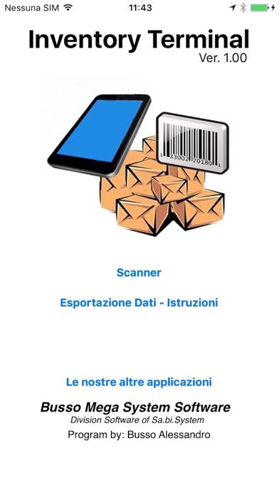 Screenshot of Inventory Terminal1