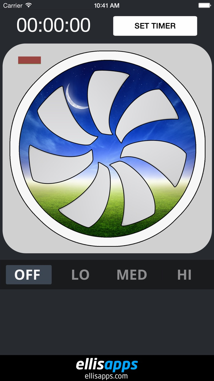 Bed Time Fan - White Noise Sleep Sounds Aid Screenshot