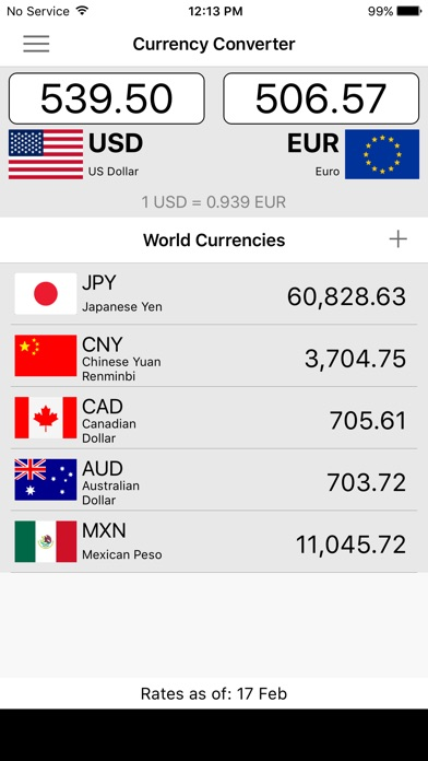 Screenshot 1 For Currency Converter Tool