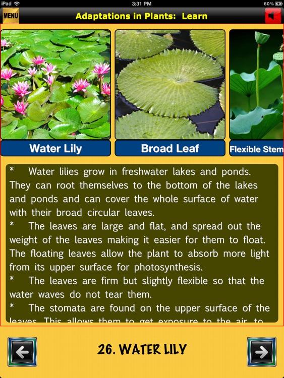 easyLearn Adaptations in Plants | Life Science HD screenshot-4