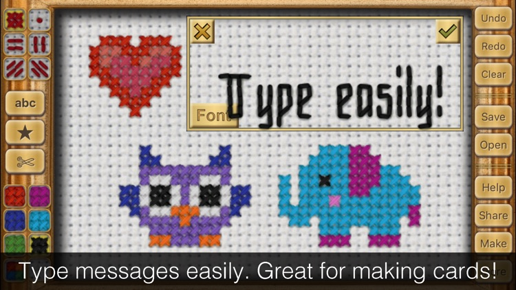 Cross Stitch Maker: Draw Realistic Embroidery! screenshot-3
