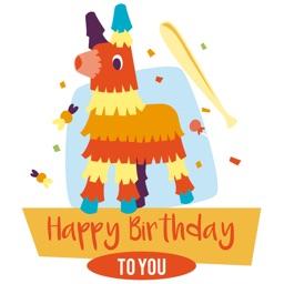 Wishes Sticker : Happy Birthday, Love & Congrats