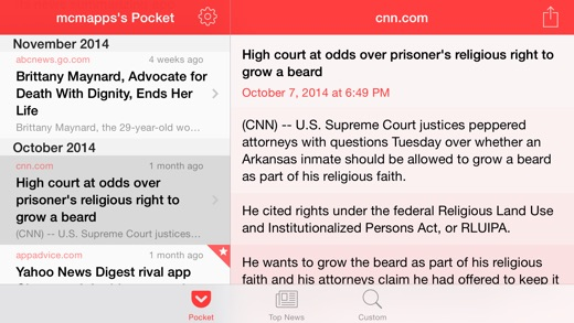Gist - News Summaries Screenshot