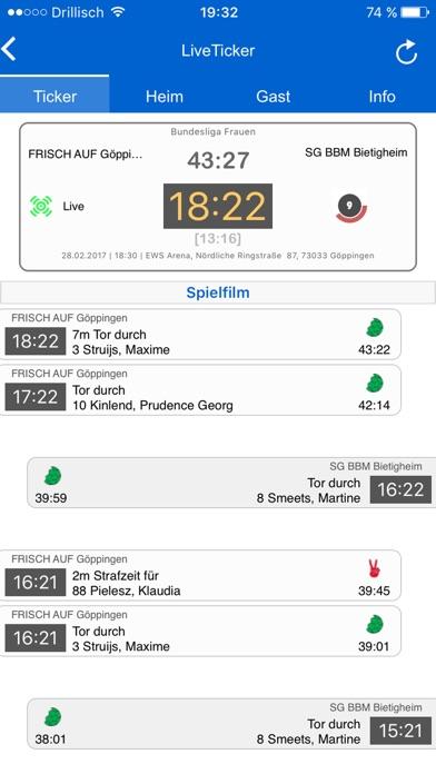 Screenshot for meinHANDBALL in Germany App Store