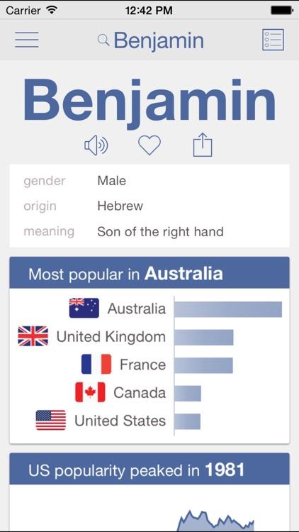 Baby Names by Nametrix screenshot-0