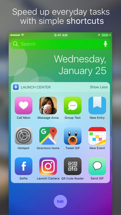 Launch Center Pro - Shortcut launcher & workflows screenshot-0