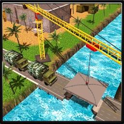 American Army Bridge Construction Truck Simulator