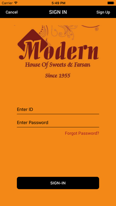 Modern House of Sweets&Farsan screenshot one