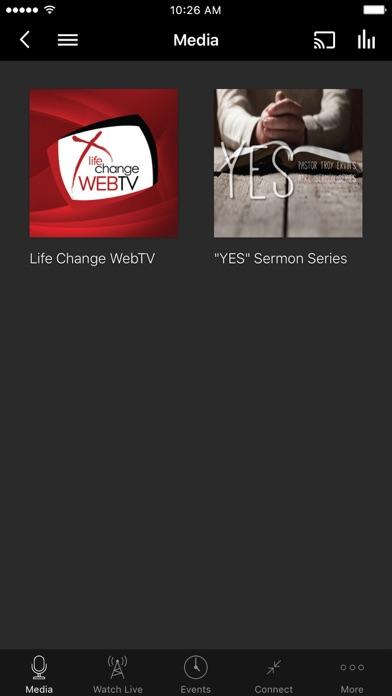 Life Change Church App screenshot one