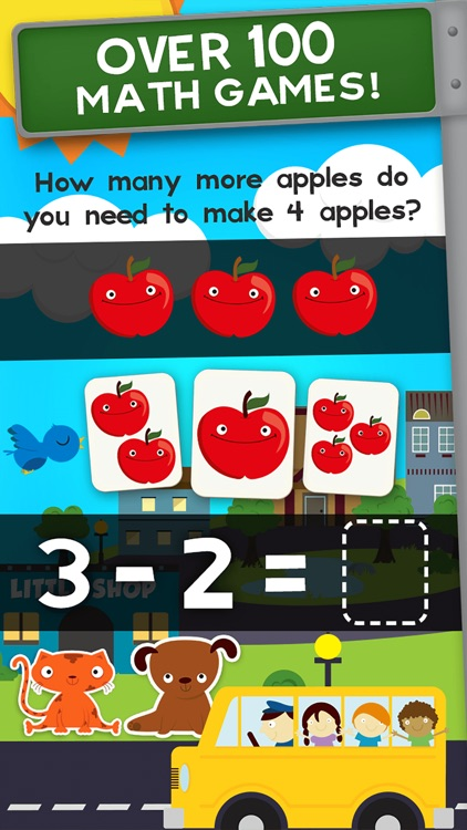 Animal Math Kindergarten Games screenshot-1