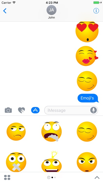 Emoji & Emoticons Stickers For iMessage screenshot-3