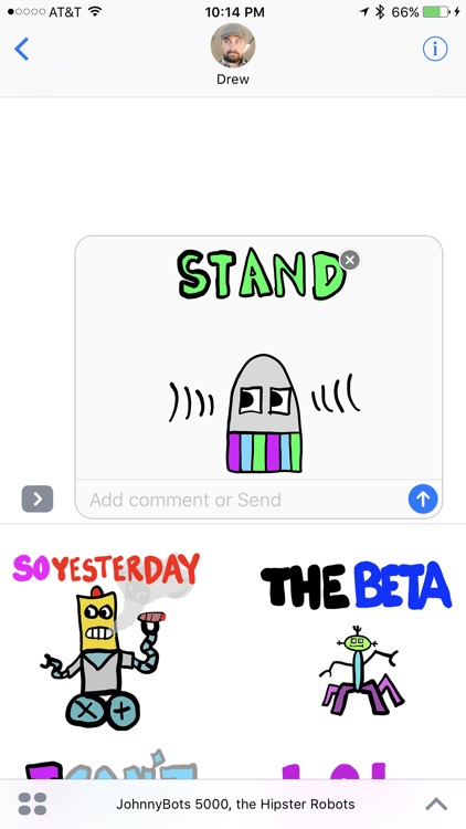 JohnnyBot Hipster Robots - Animated Stickers