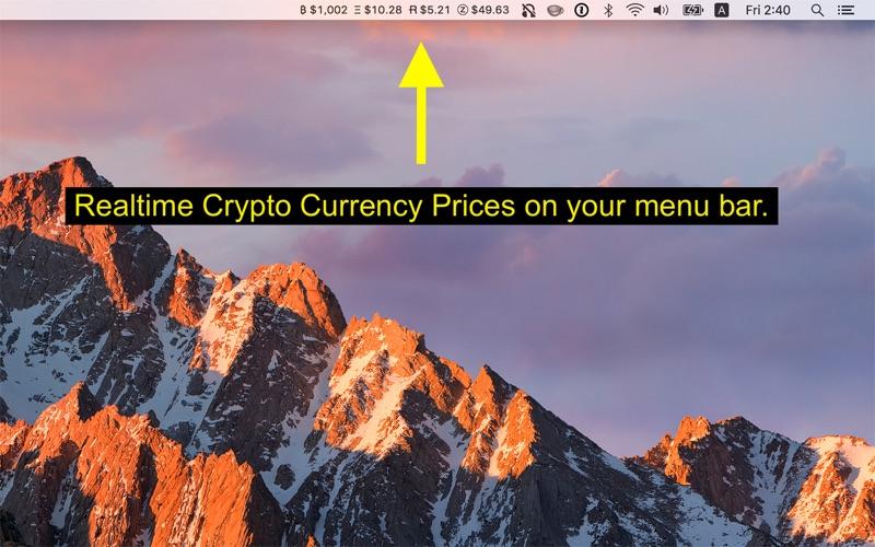 Coin Tick - Menu Bar Crypto Ticker for Mac