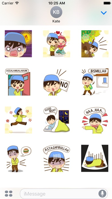 Adam, funny moslem boy for iMessage Sticker