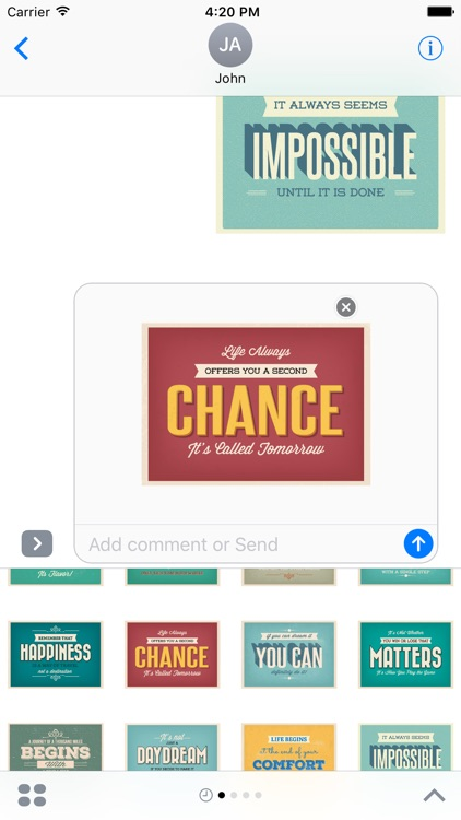 Motivational Stickers for iMessage Chat Emojis screenshot-4