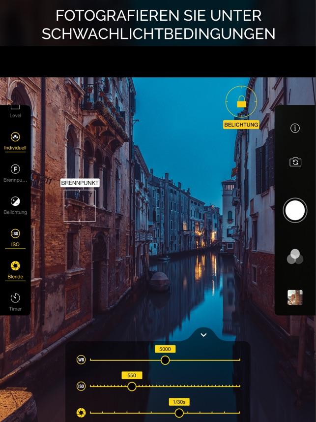 Warmlight - Manuelle kamera Screenshot