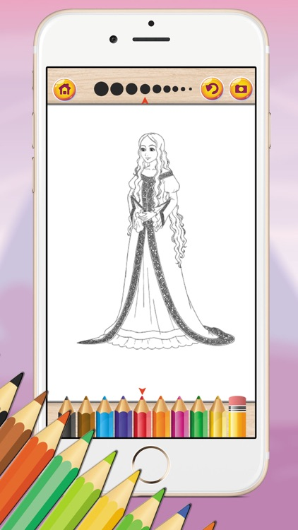 Fairy Tale Coloring Book Game for kids