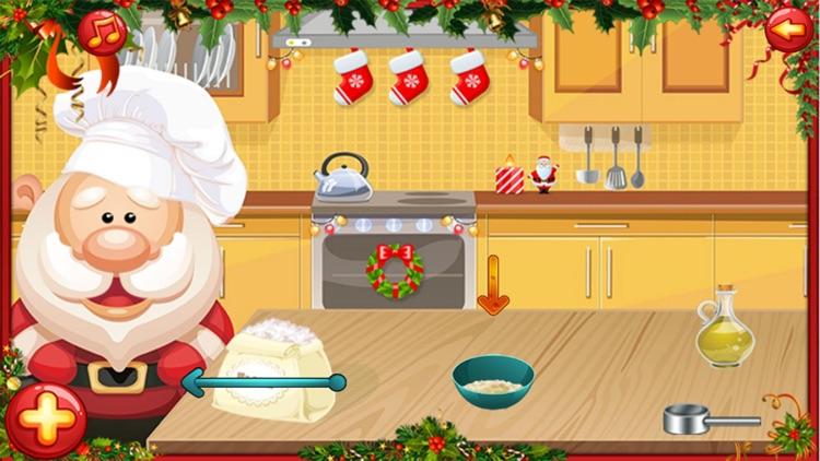 santa cooking and Maker dessert cake christmas screenshot-4