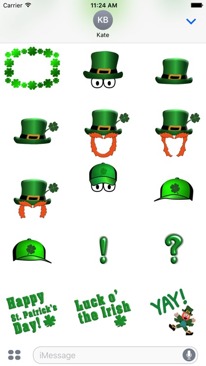 Five Little Leprechauns St. Patrick's Day Stickers screenshot-3