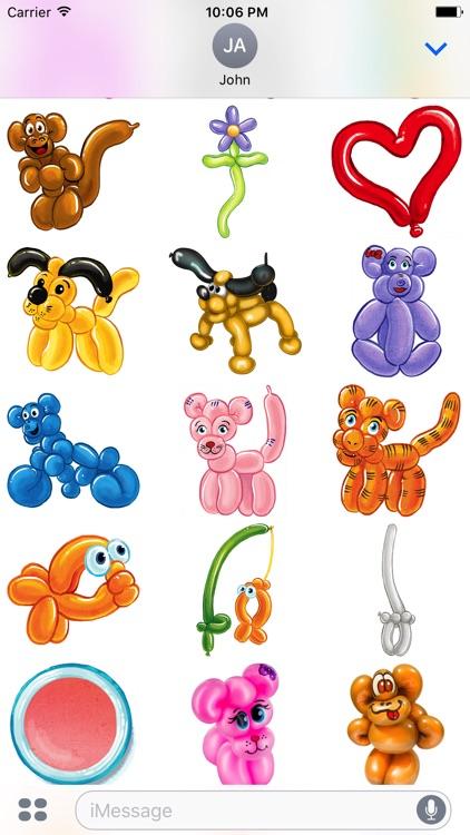 Balloon Animals Sticker pack screenshot-4