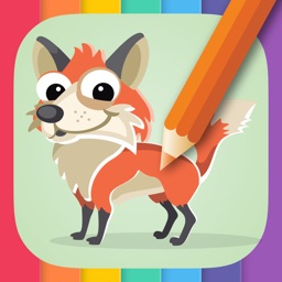 Animal Coloring Book for Kids: Learn to color.