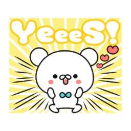 Animated Happy Bear Sticker