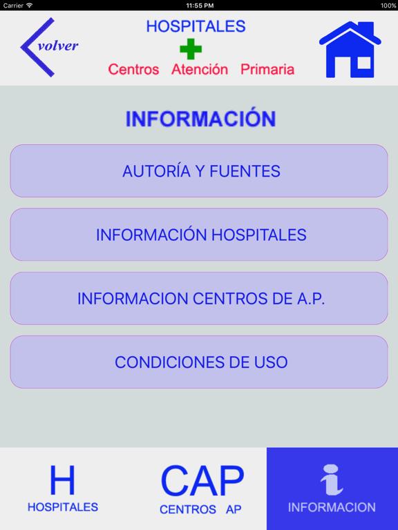 HOSPITALES Y CENTROS DE AP screenshot 10