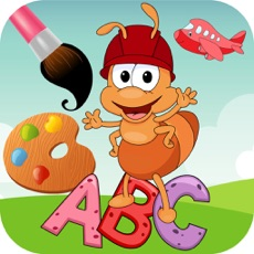 Activities of ABC coloring pages painting for kids learning