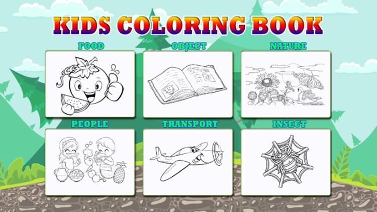 Kids Coloring Books Game screenshot-3