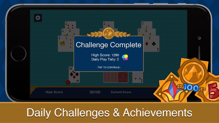 Three Peak Solitaire screenshot-4
