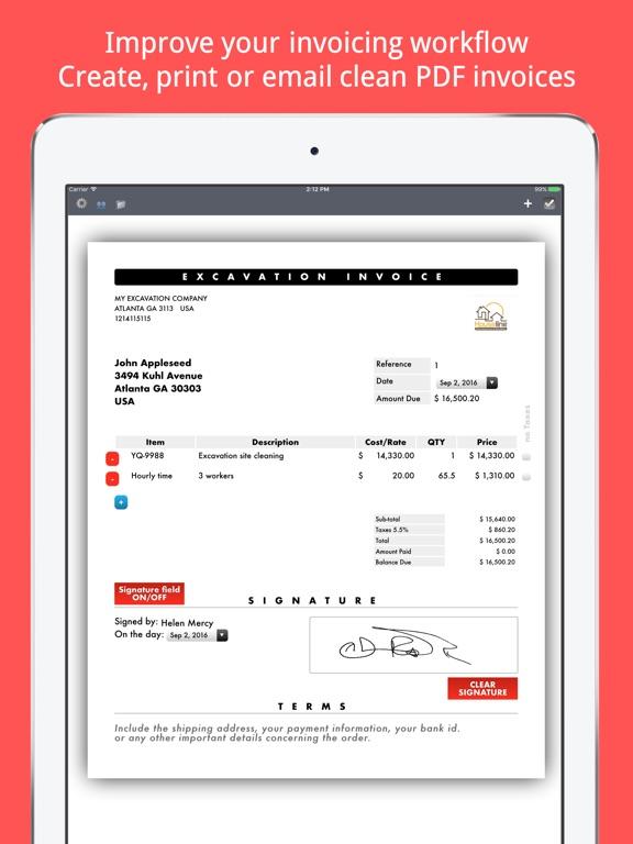 invoice maker plus create send print pdf files app price drops
