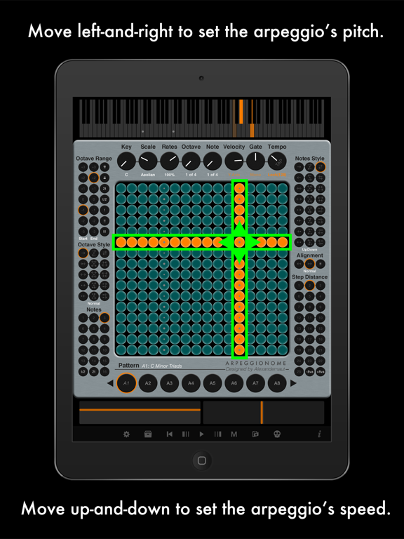 Arpeggionome Pro | matrix arpeggiator