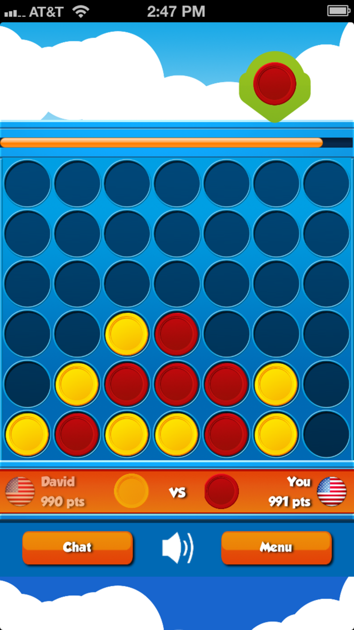 4 in a Row Multiplayer - Play online with friends! Screenshot