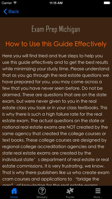 Examprepmi Michigan Real Estate Agent Exam Prep review screenshots