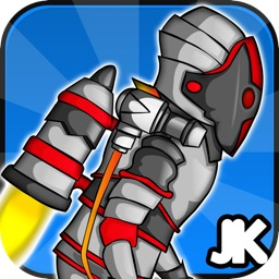 A Jet-Pack Knight in the Adventures of the Vector Castle of Doom