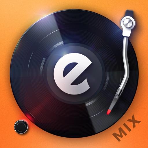 edjing Mix:DJ turntable to remix and scratch music app logo