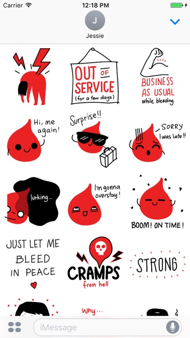 Period Survival Kit Stickers