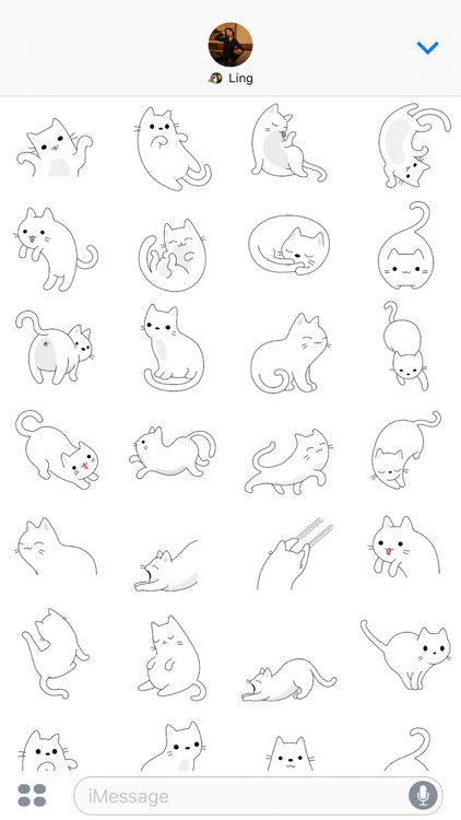 Yuki Neko - Kitty Cat Fun Pet Stickers screenshot-4