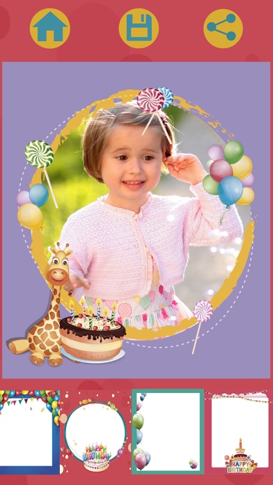 Birthday party photo frames for kids – Pro screenshot four