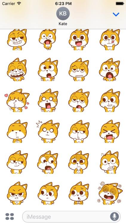 Baby Yellow Meow Emoji screenshot-3
