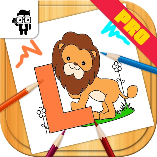 Letters Kids Coloring Book Pro