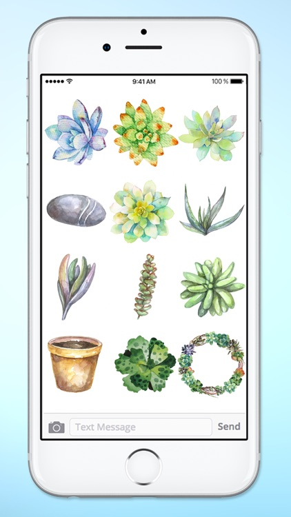 Watercolor Cactus and Succulents Sticker Pack screenshot-4